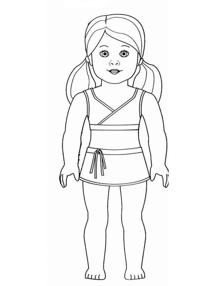 This is a photo of Unforgettable American Girl Doll Coloring Pictures
