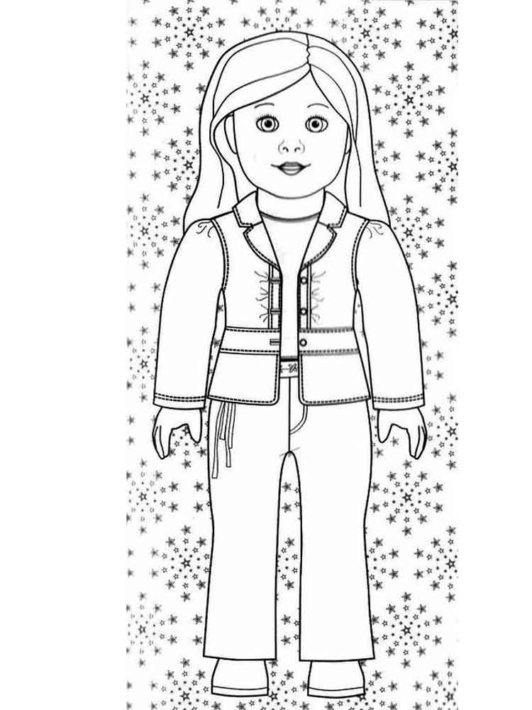 American Girl Doll coloring pages. Free Printable American Girl ...