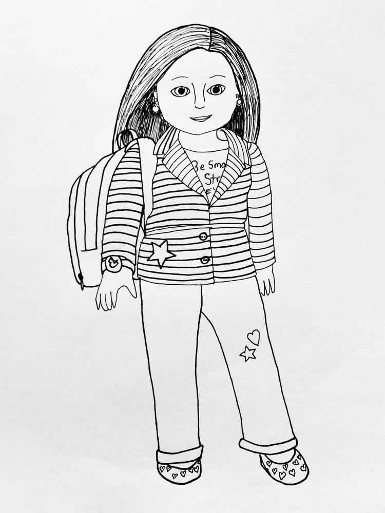 American Girl Doll Coloring Pages Free Printable American
