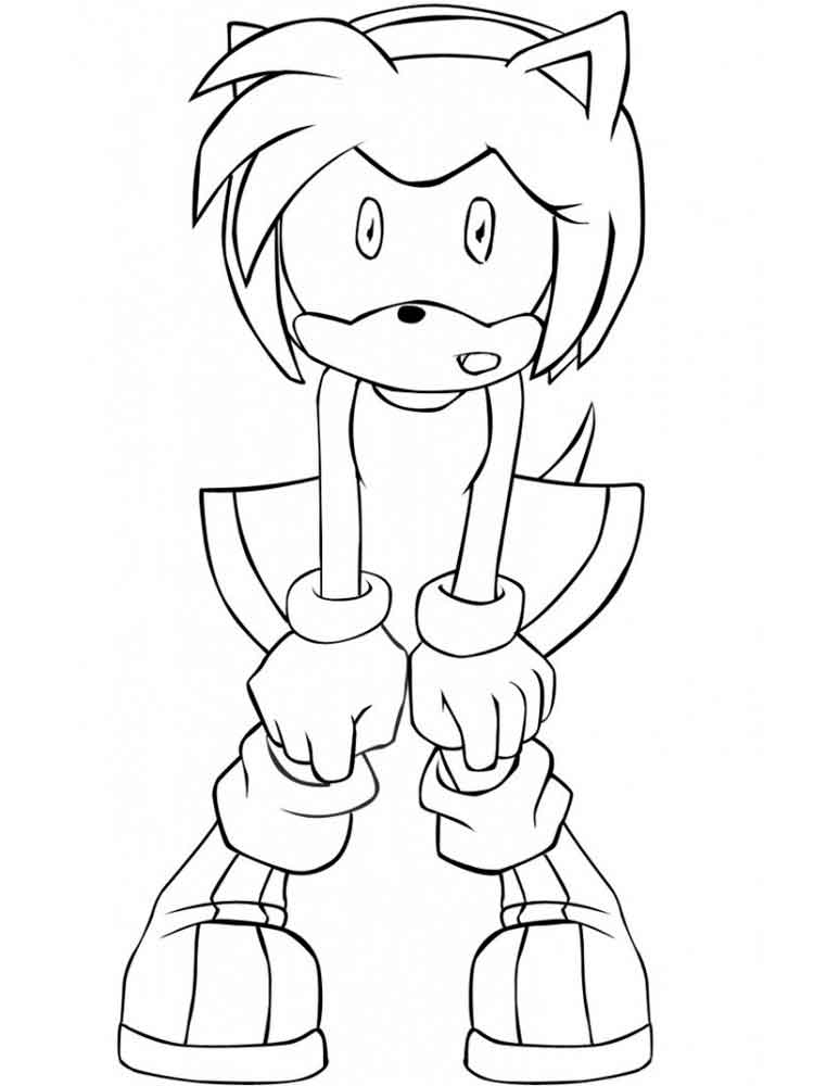 Amy Rose Coloring Pages Free Printable Amy Rose Coloring