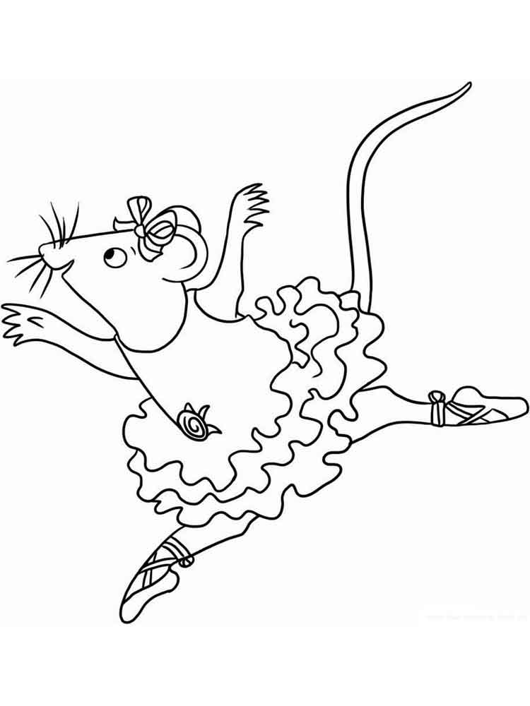 Angelina Ballerina coloring pages. Free Printable Angelina ...
