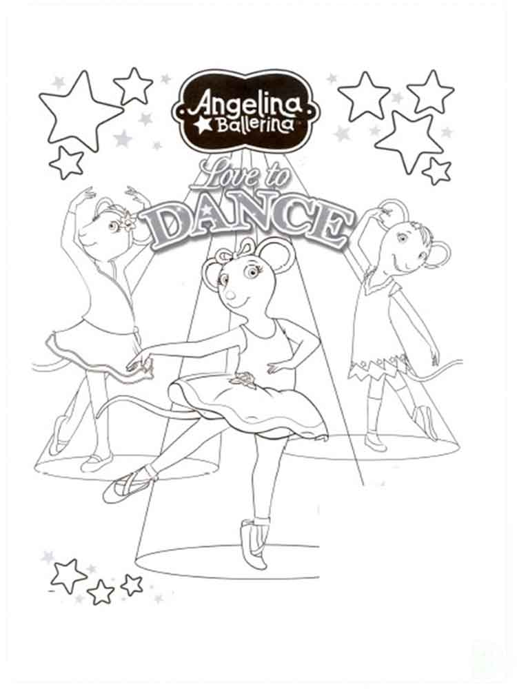 angelina ballerina coloring pages free printable angelina ballerina - Angelina Ballerina Coloring Pages