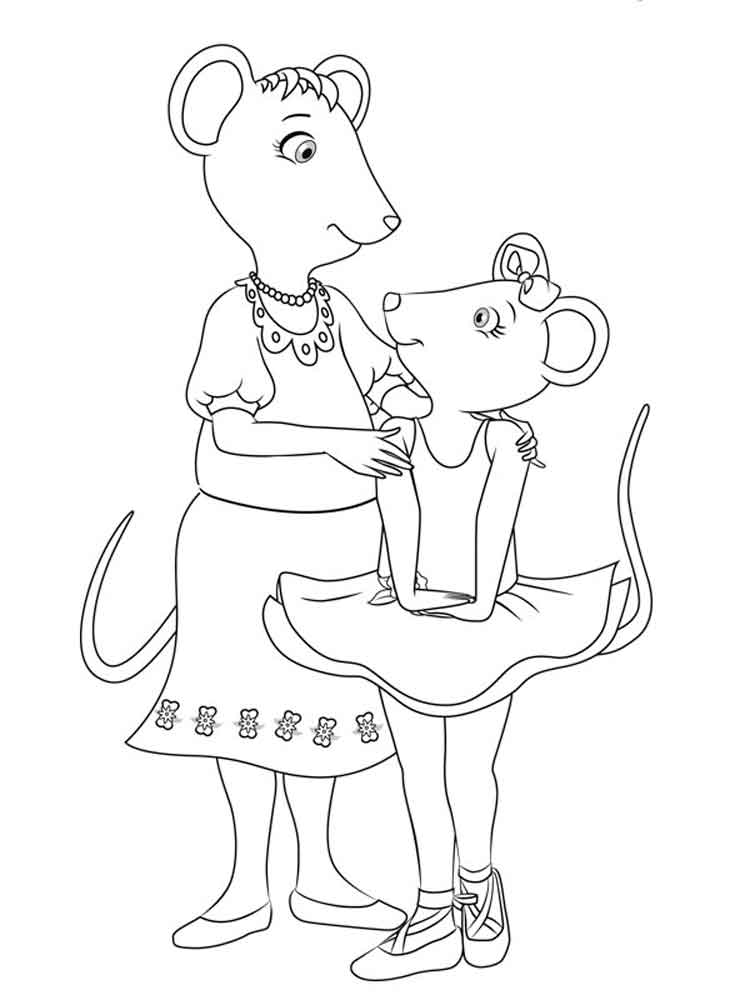 Angelina Ballerina Coloring Pages Free Printable Angelina Ballerina Coloring Pages