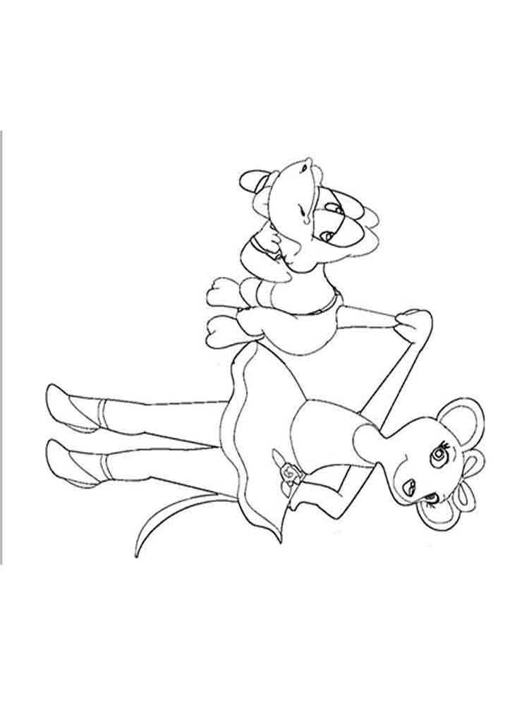 Angelina Ballerina coloring pages Free Printable Angelina