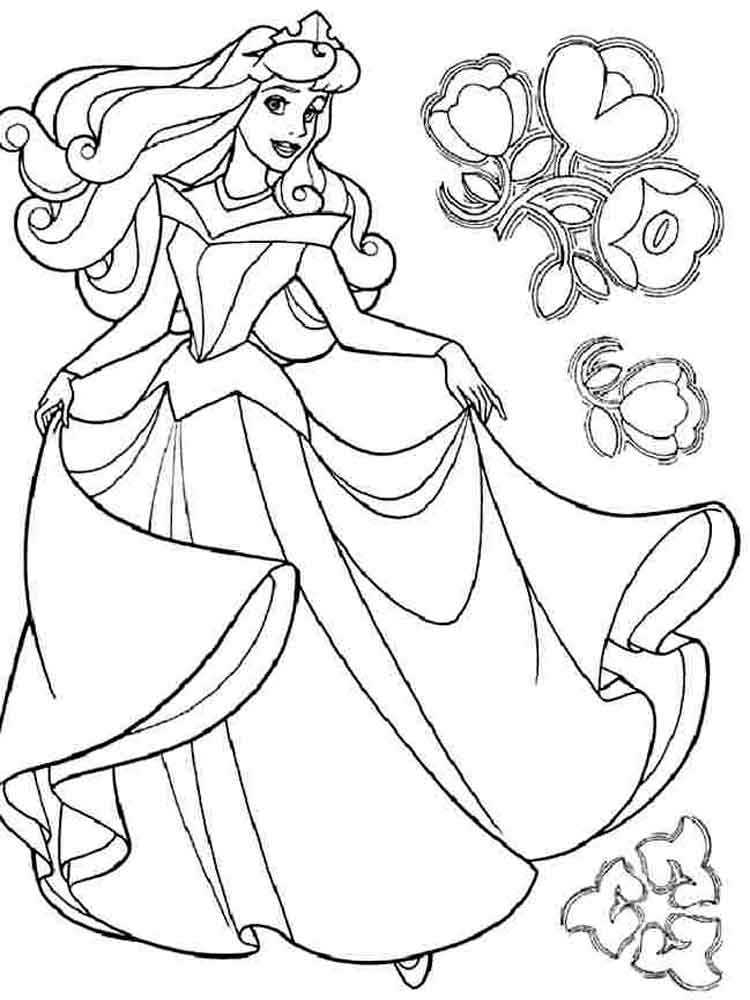 Princess Aurora Coloring Pages - GetColoringPages.com | 1000x750
