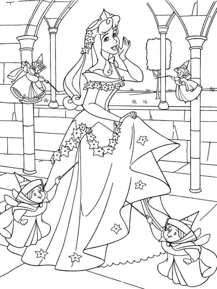 Aurora Disney Princess Coloring Pages 7