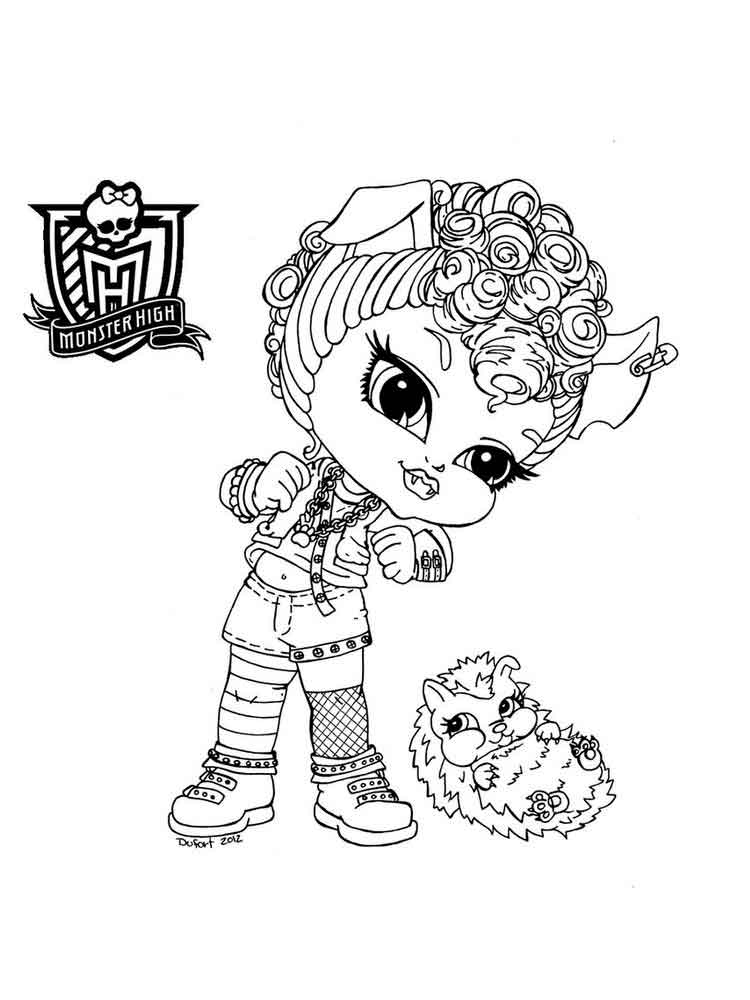 Baby Monster High Coloring Pages Free Printable Baby