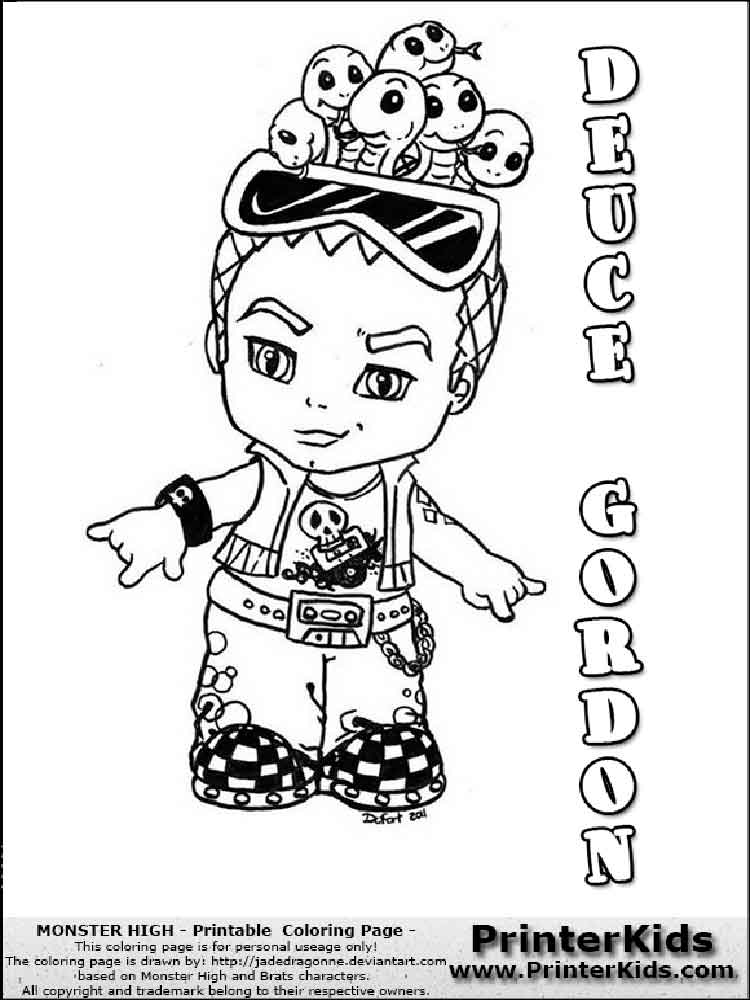 Baby Monster High coloring pages. Free Printable Baby Monster High ...