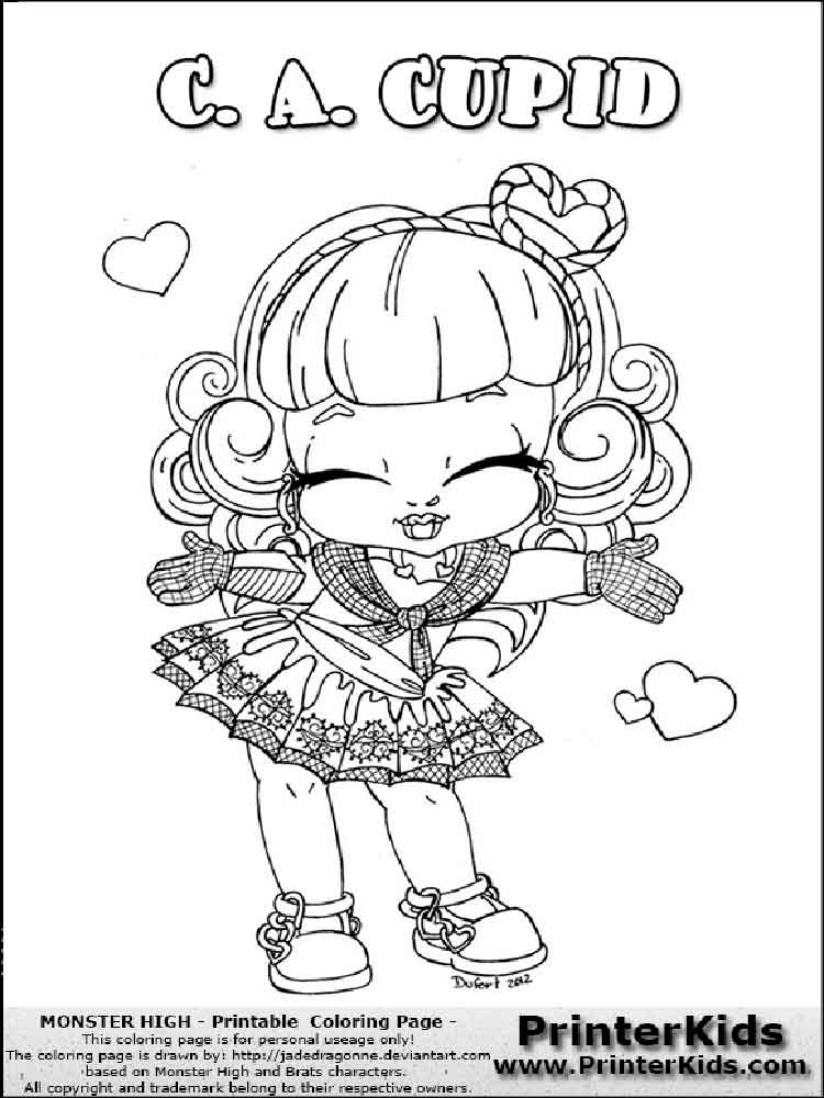 cute monster high coloring pages | Baby Monster High coloring pages. Free Printable Baby Monster High coloring pages.