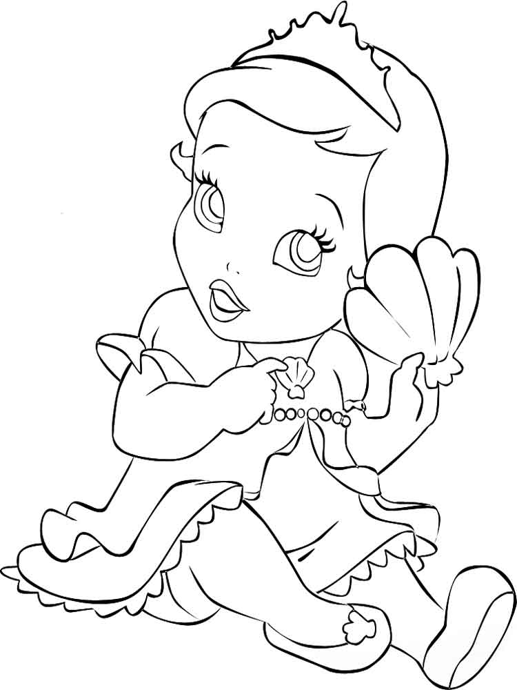 Baby Princess Coloring Pages Free Printable Baby Princess