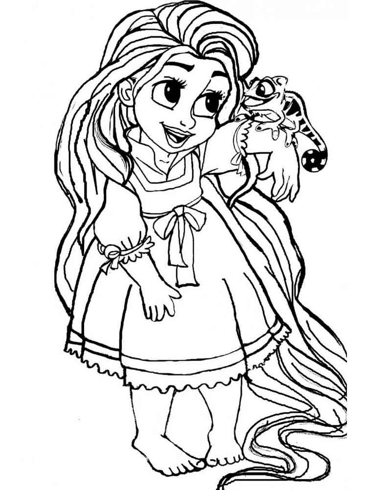 Baby princess coloring pages 2