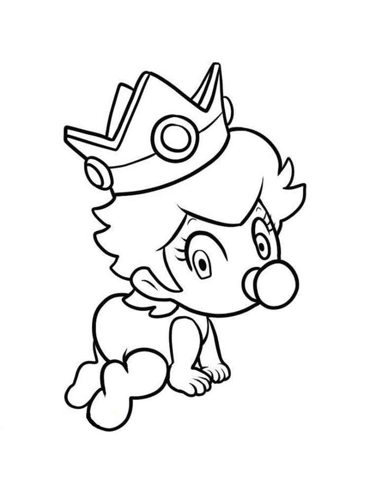 Baby Princess coloring pages Free