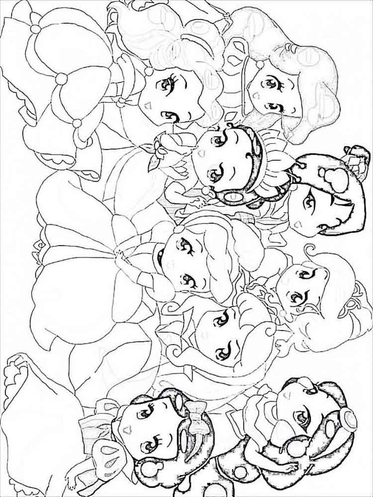 Baby Princess Coloring Pages Free Printable Baby Princess Coloring