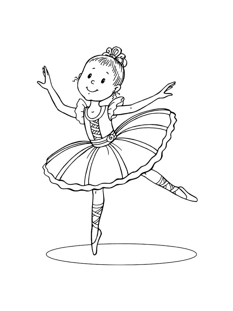 Ballet coloring pages Free Printable
