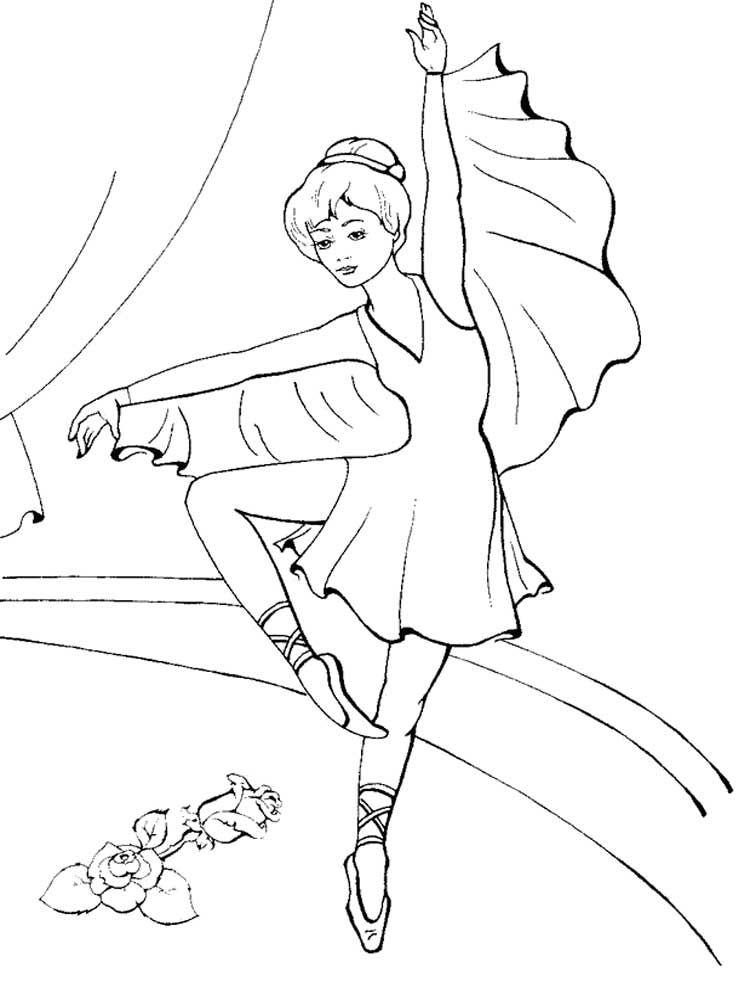 Ballet Coloring Pages Free Printable Ballet Coloring Pages