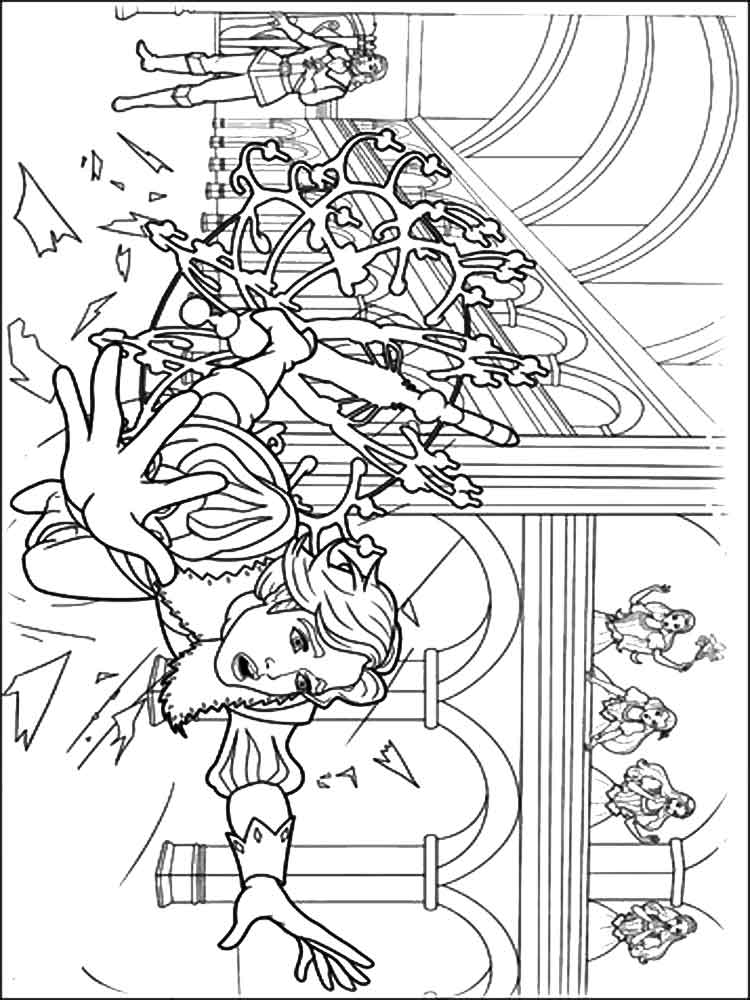Barbie and the three Musketeers coloring pages Free Printable