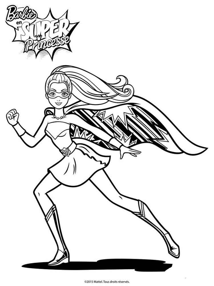 Barbie In Princess Power Coloring Pages 1