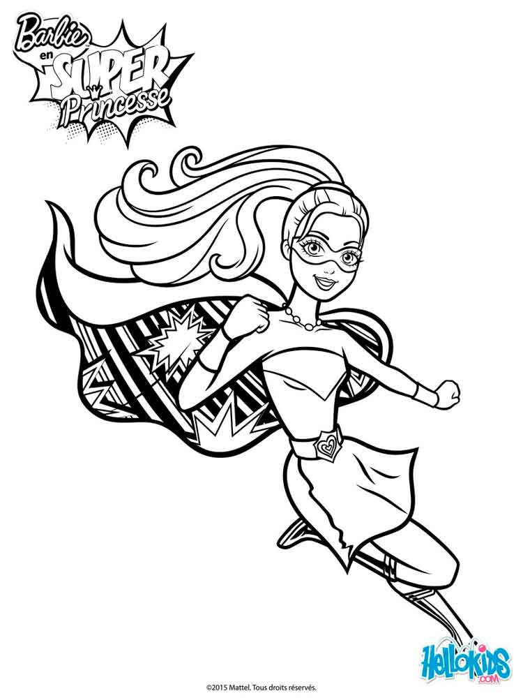 Barbie In Princess Power Coloring Pages Free Printable