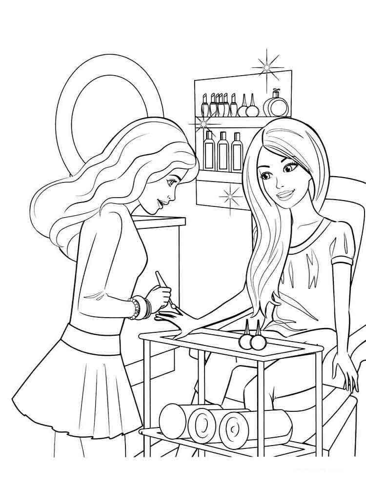 Раскраски барби парикмахерская