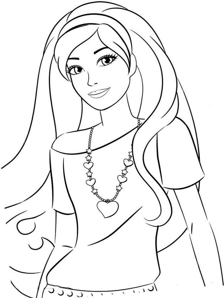 Barbie coloring pages Download