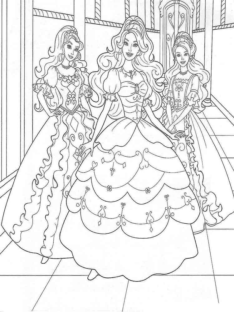 Barbie Coloring Pages Download And Print Barbie Coloring