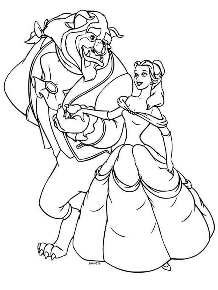 Beauty and the beast coloring pages. Download and print ...