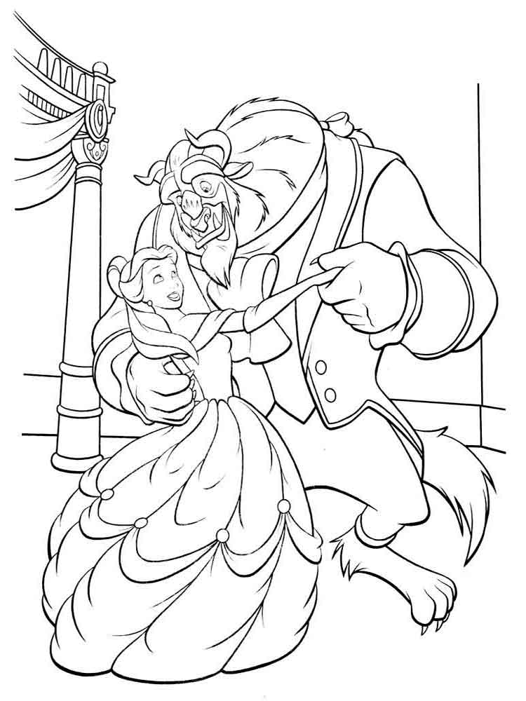Beauty and the beast coloring pages Download and print Beauty and