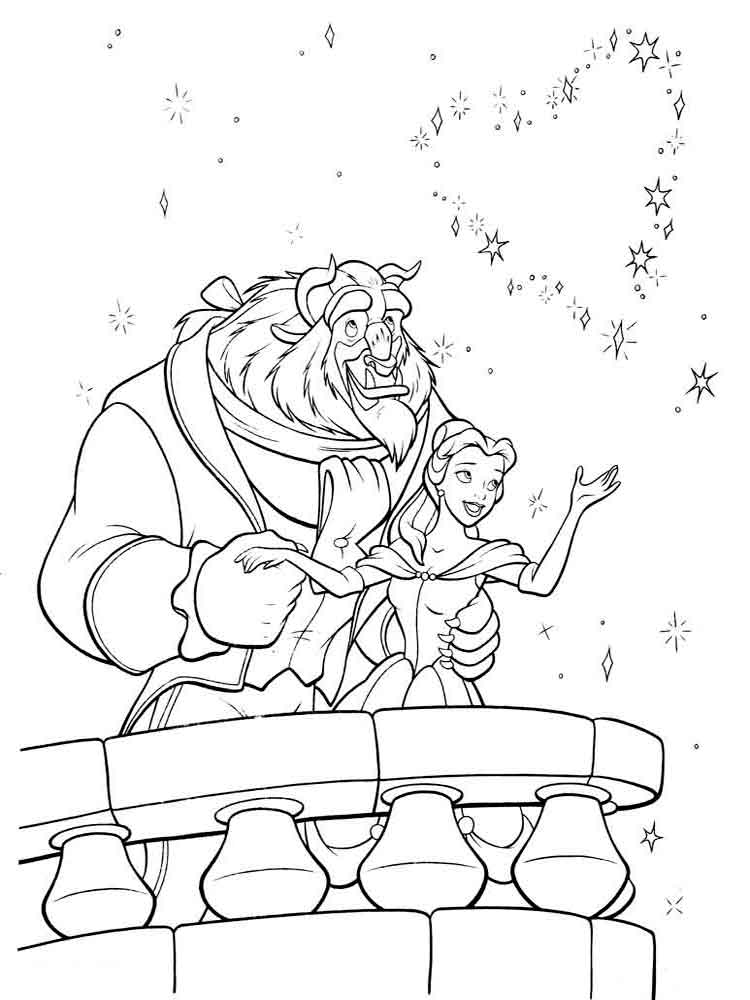 Beauty and the beast coloring pages Download and print