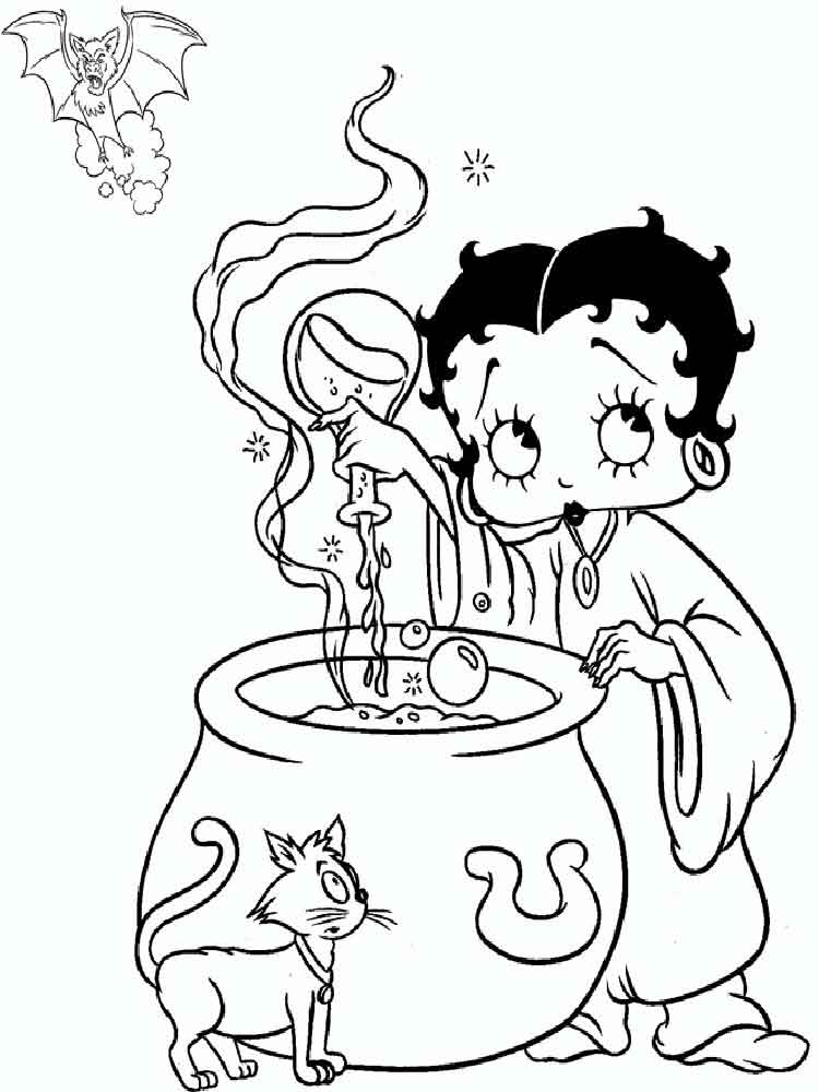 Betty Boop coloring pages Free