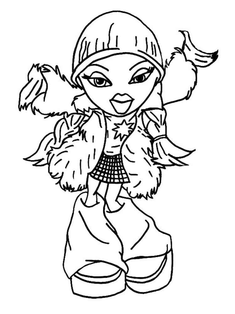 Bratz Dolls Coloring Pages Free Printable Bratz Dolls Coloring Pages