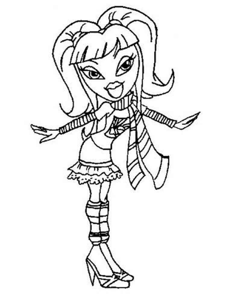 Bratz Dolls coloring pages Free
