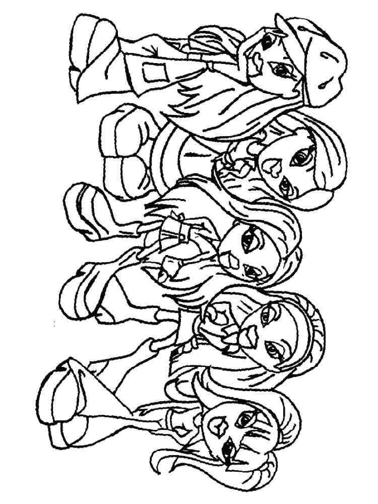 Bratz Dolls coloring pages. Free Printable Bratz Dolls ...