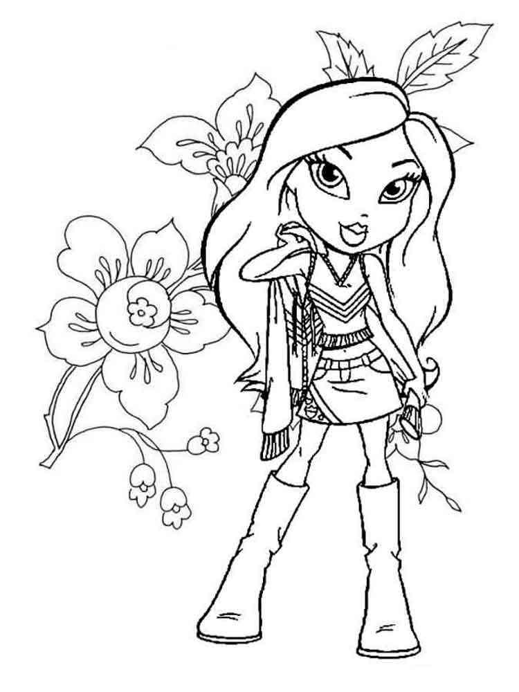 bratz mermaid coloring pages - photo#21