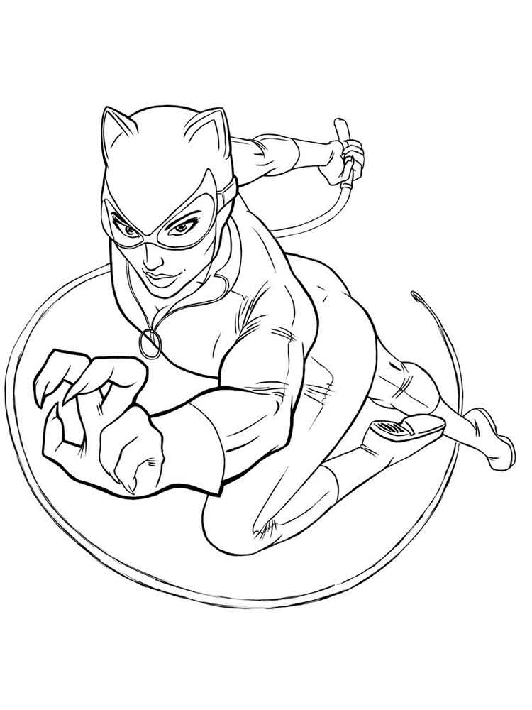 Catwoman coloring pages. Free Printable Catwoman coloring pages.