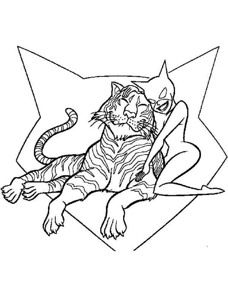 Catwoman coloring pages. Free Printable Catwoman coloring ...