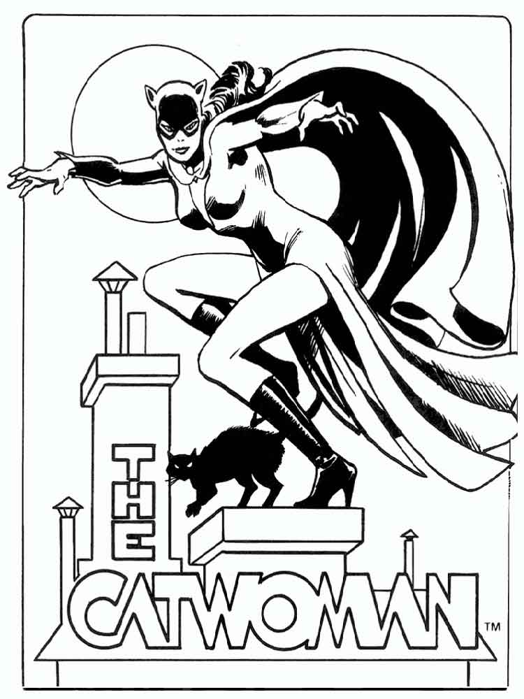 Catwoman coloring pages Free Printable