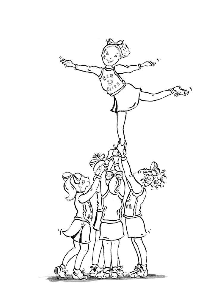 Cheerleader coloring pages Free