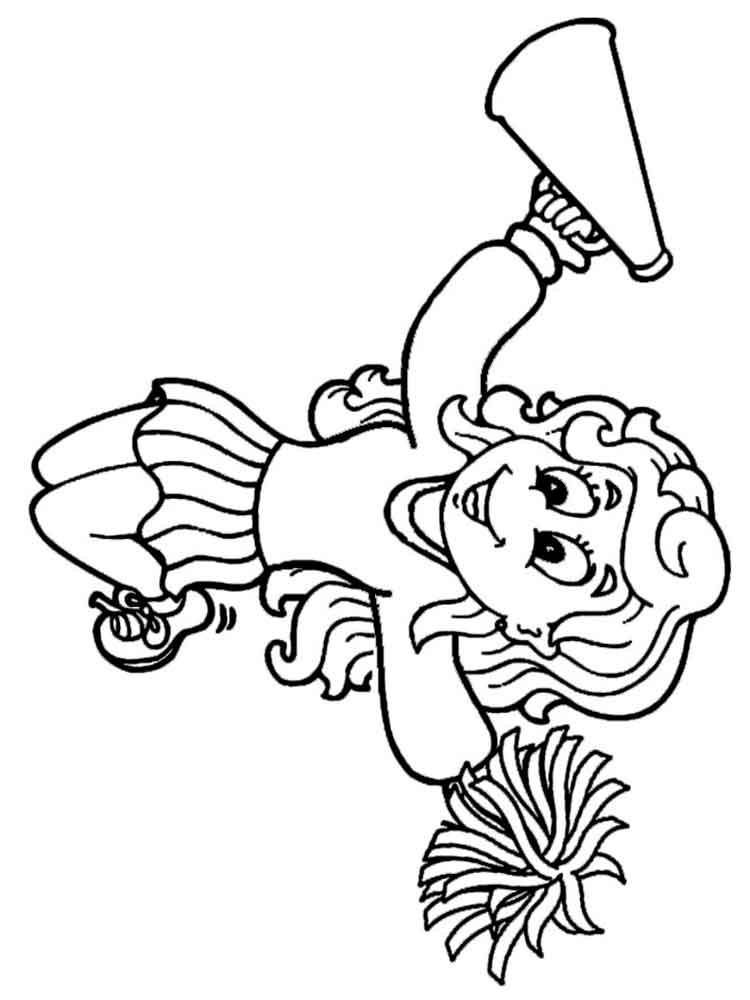 cheerleading coloring pages for grils - photo#8