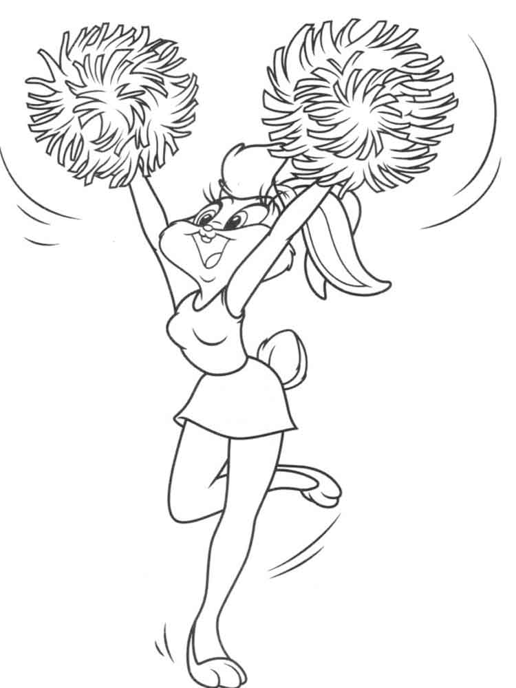 cheerleading coloring pages for grils - photo#23