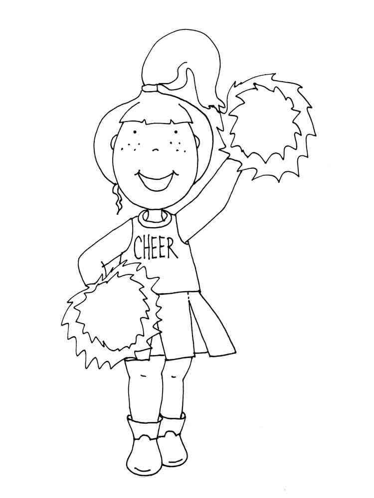 Cheerleader Coloring Pages Free Printable Cheerleader