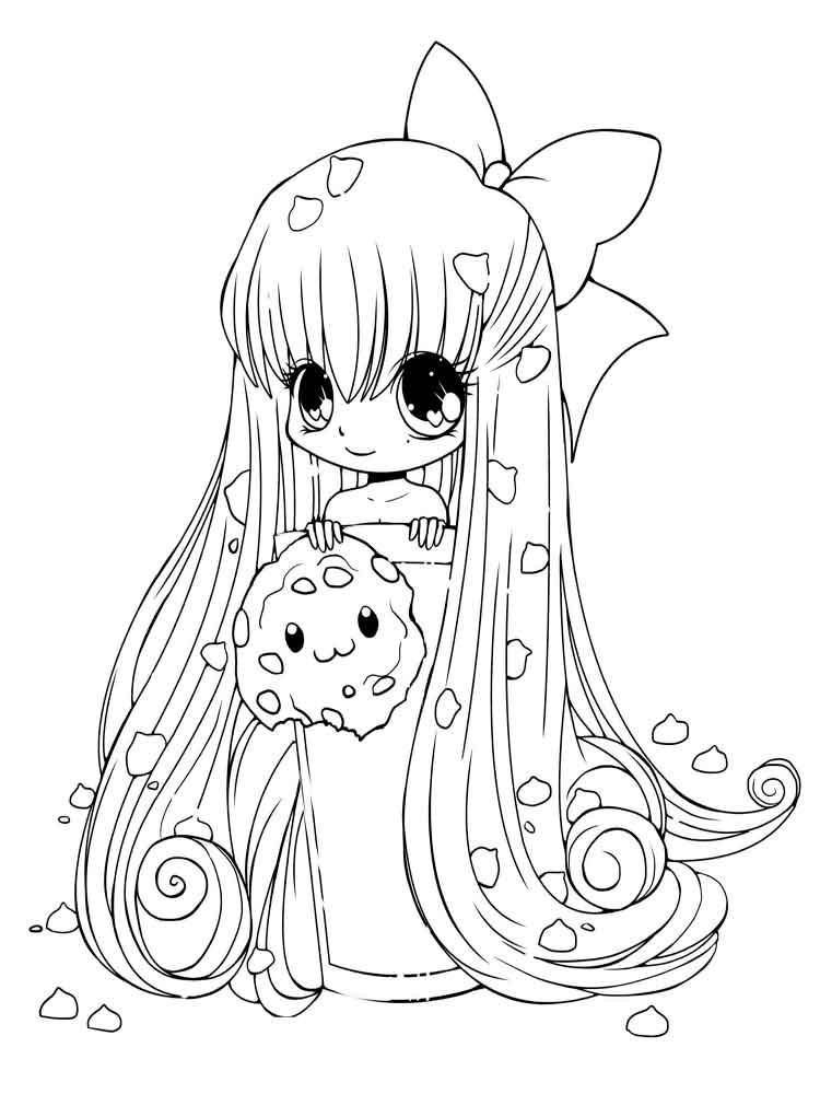Chibi coloring pages Free Printable
