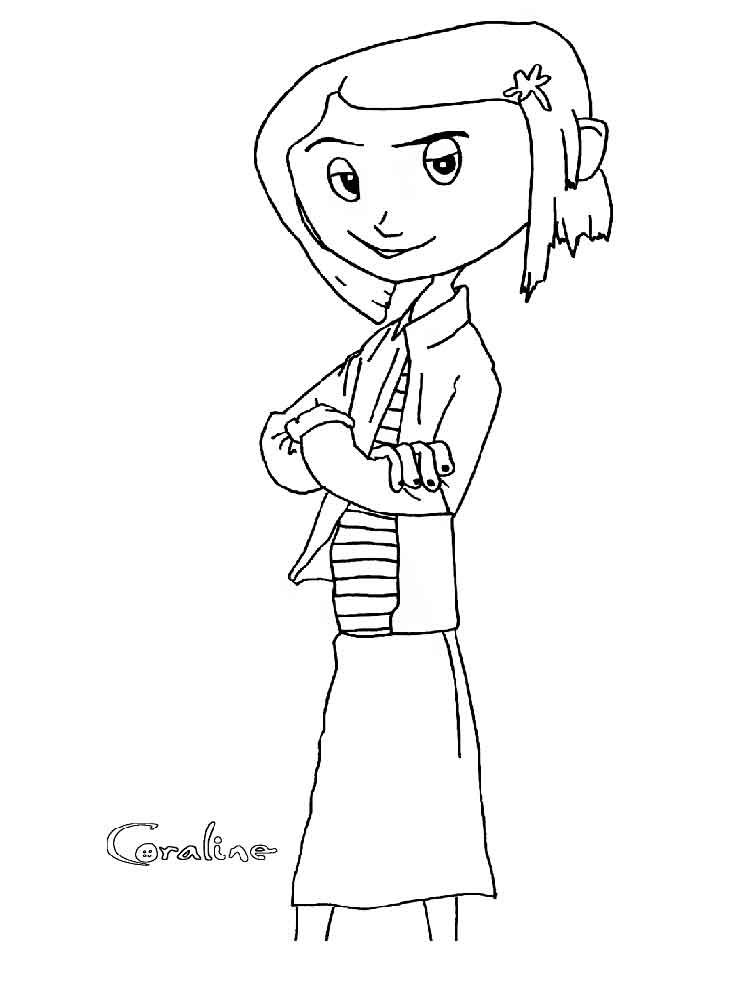 A coloring page of coraline  Coraline  Pinterest