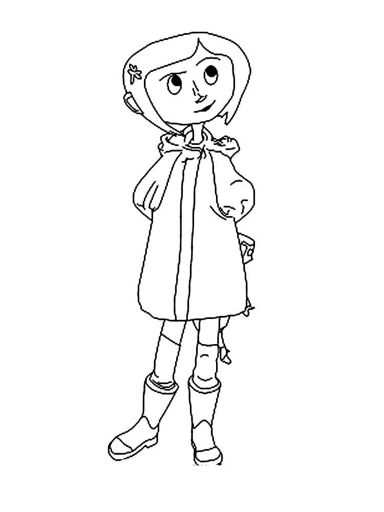 Coraline coloring pages Free Printable Coraline coloring