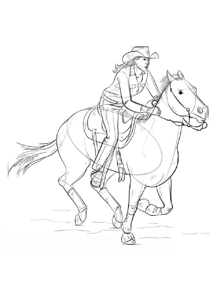Cowgirls Coloring Pages - GetColoringPages.com   1000x750