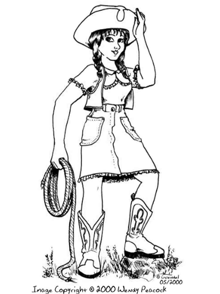 Cowgirl coloring pages. Free Printable Cowgirl coloring pages.