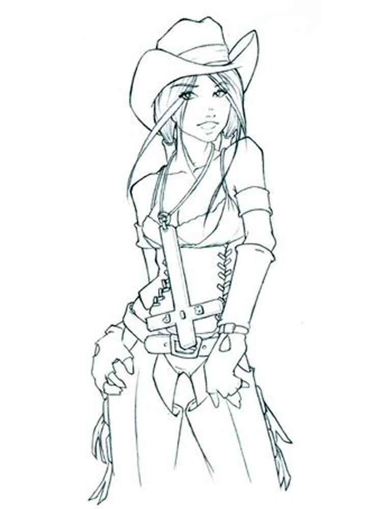 Cowgirl Coloring Pages Free Printable Cowgirl Coloring Pages