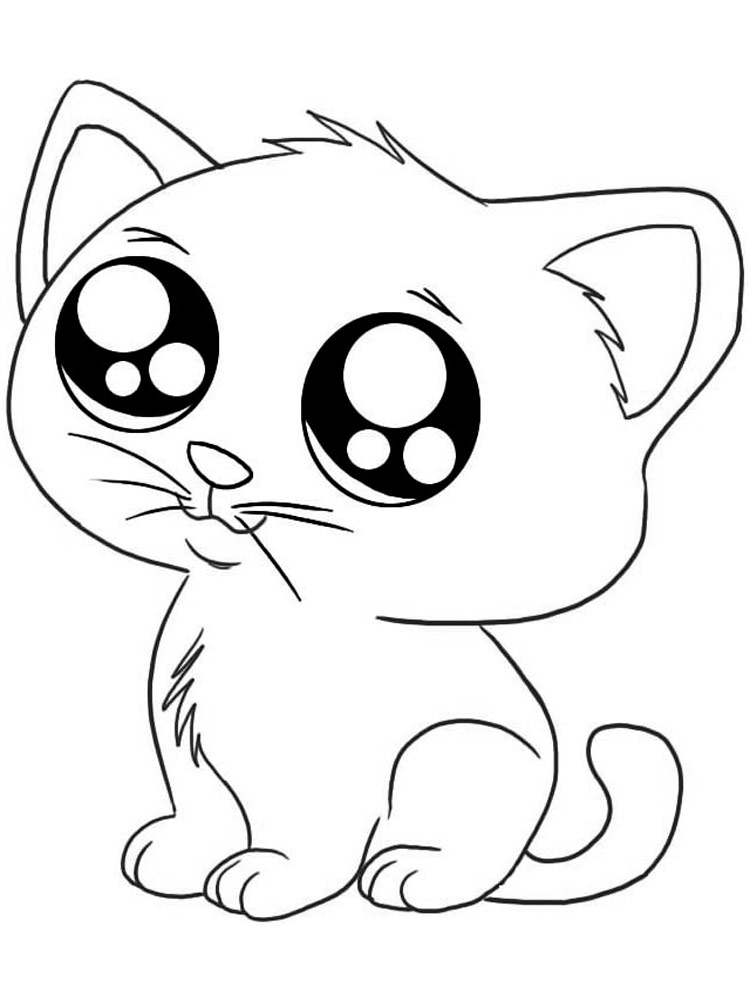 Cute Cats coloring pages. Download and print Cute Cats ...