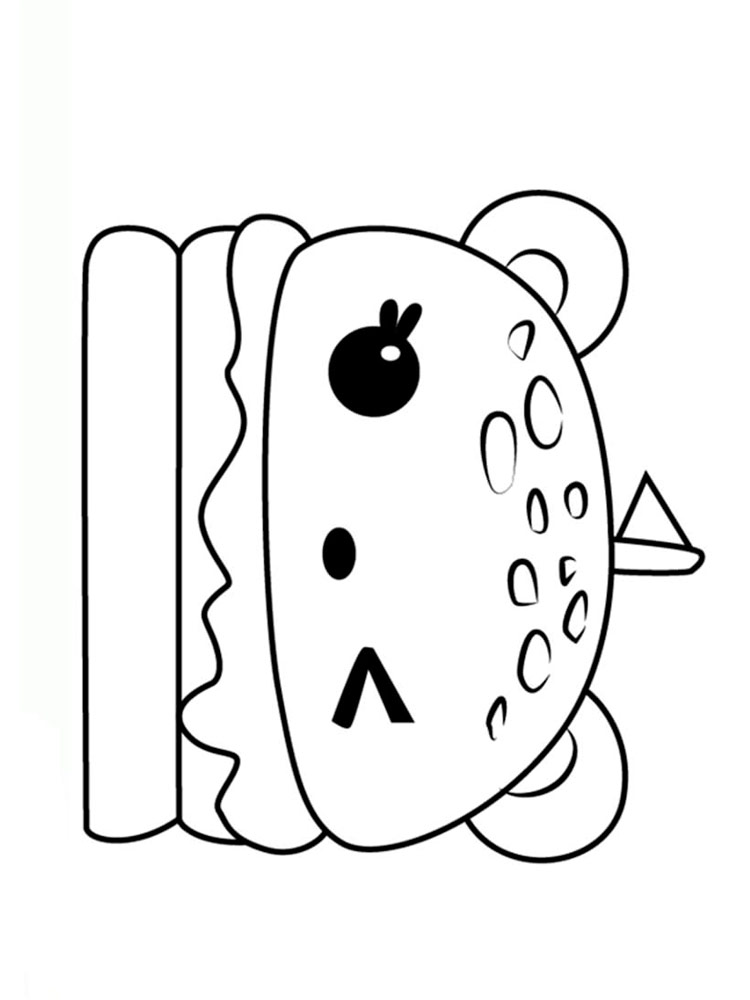 Cute Food coloring pages. Download and print Cute Food coloring pages