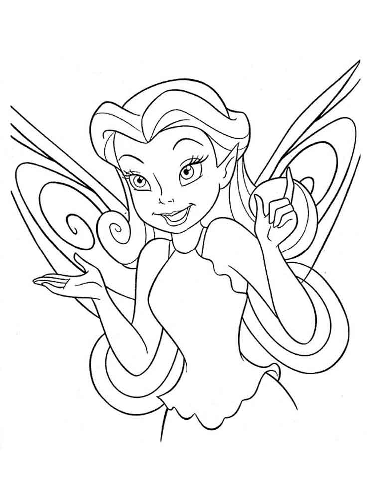 Silvermist Tinkerbell Coloring Page | Printable | Fairy | Fairy ... | 1000x750