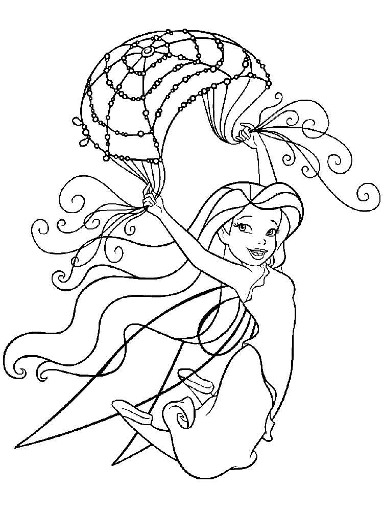 Disney Fairy Silvermist Coloring Pages Free Printable